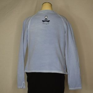 Life Is Good Tops - Life Is Good | Light Blue Tie Front Yoga Jacket M